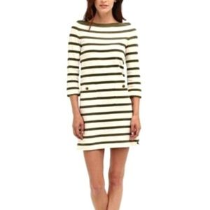 Kate Spade Striped Boat Neck Tunic Dress, Size L